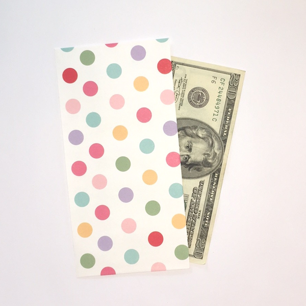 Charming & Colorful Cash Envelopes | Pack 10