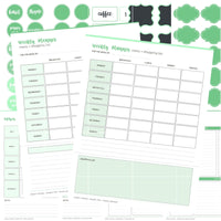 Basic Menu Planner Kit - Mint