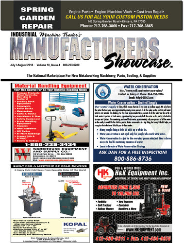 Industrial Machine Trader's Manufacturers Showcase