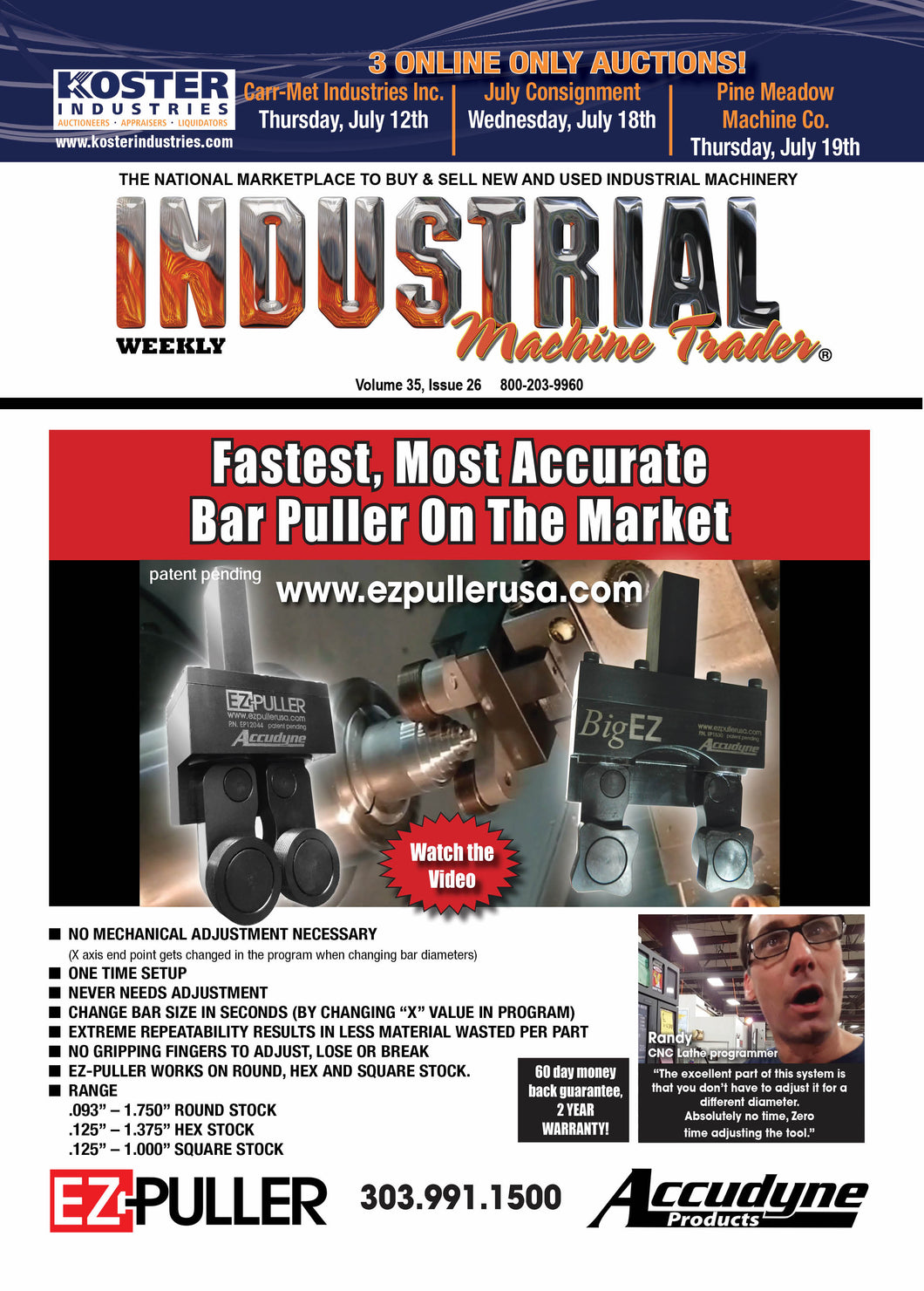 Industrial Machine Trader Weekly