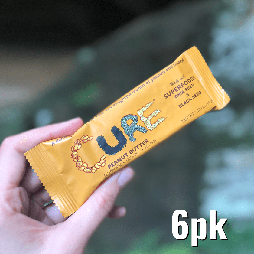 6 Pack - Peanut Butter CURE®  Bars