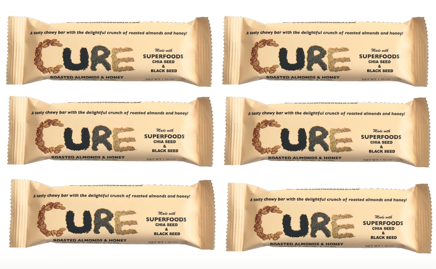 6 Pack -Single Roasted Almond CURE Bar