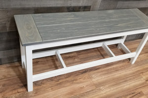 Farmhouse Bench, Countertop Height