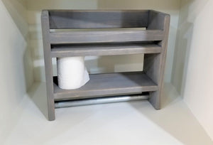 Small Bathroom Shelf with Towel Bar - Shelf