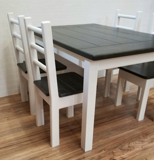 Extra Big and Tall Kids Farmhouse Table Set