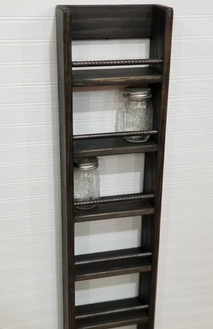 Tall Spice Rack, Display Shelf, Long, Accent Wall Shelf