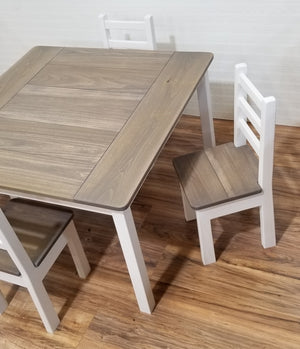 Kids Big Square Modern Farmhouse Table Set