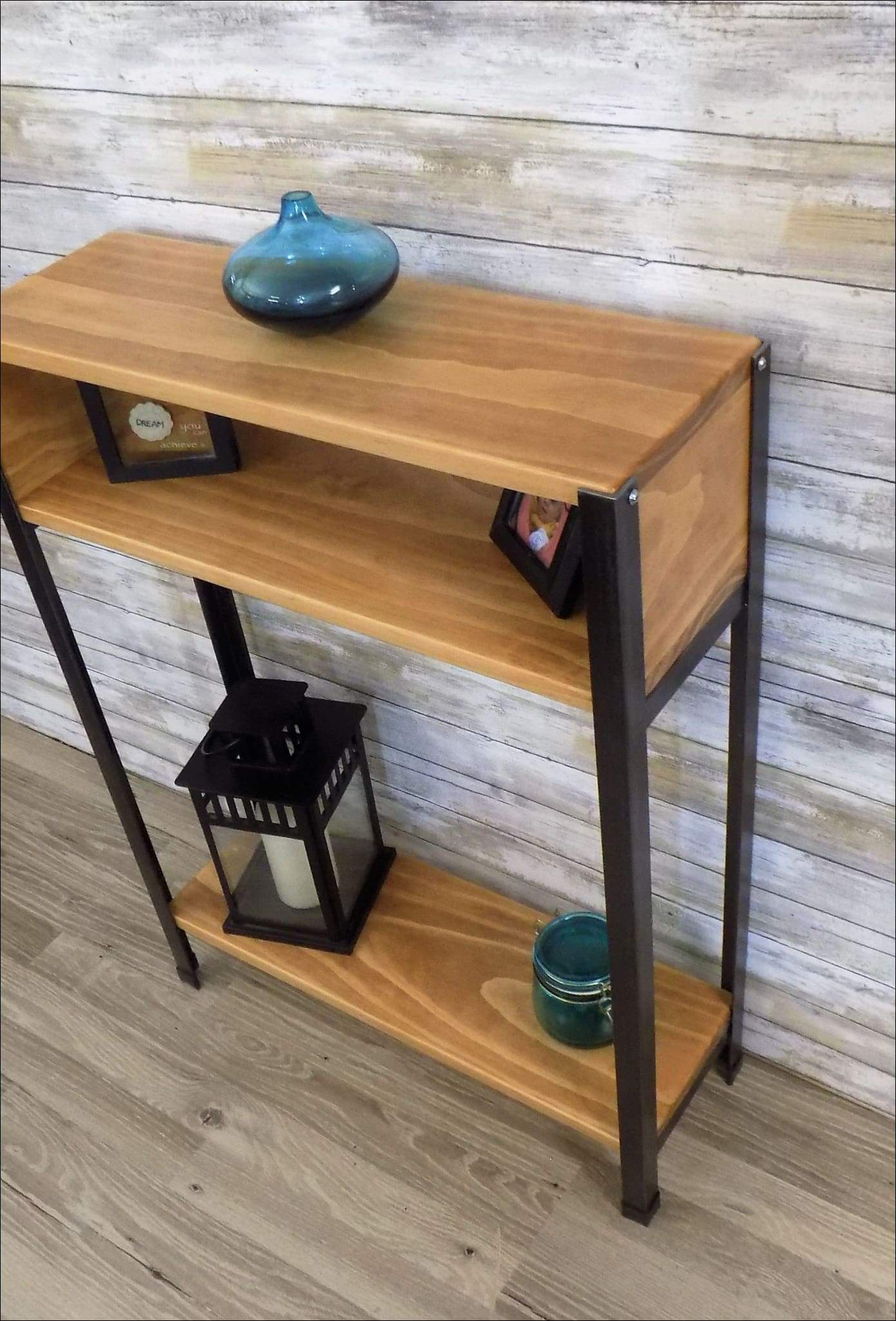 Picture of: Rustic Industrial Console Table Ebay