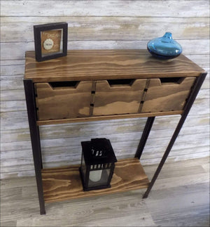 Skinny Sofa Console Table with Crate Drawers - Console Table