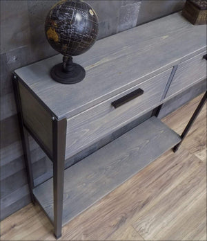 Sofa Console Table with Two Drawers - Console Table