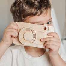 Load image into Gallery viewer, Wooden Toy Camera