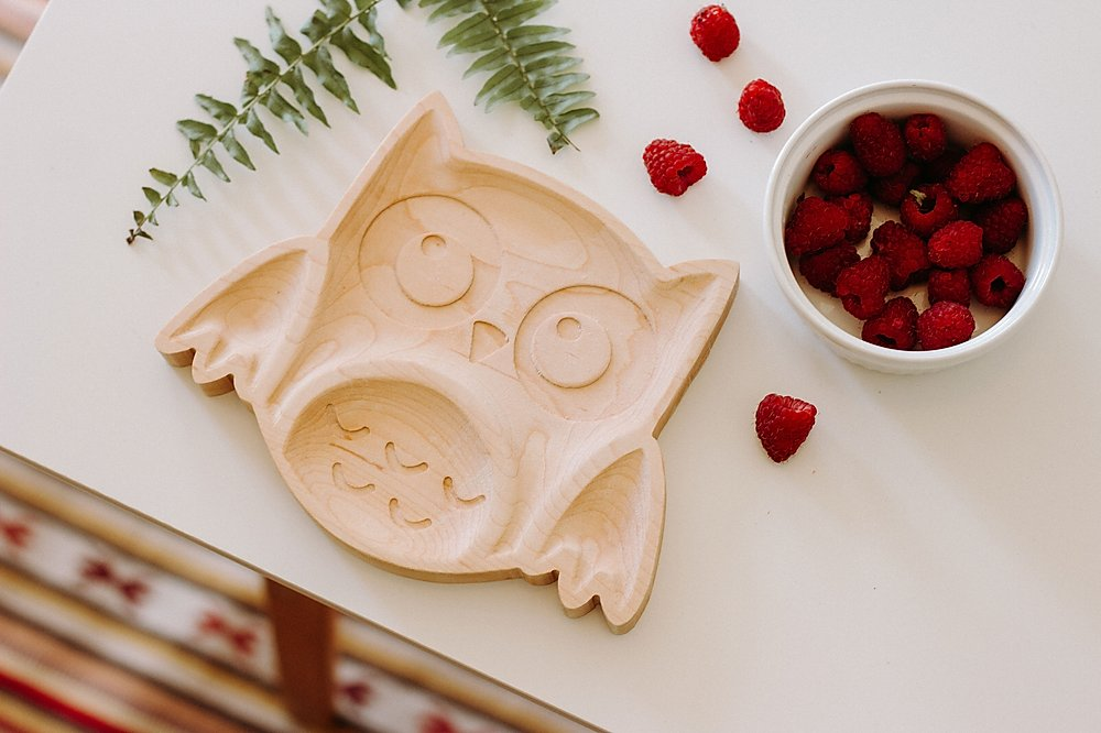Maple Owl Plate