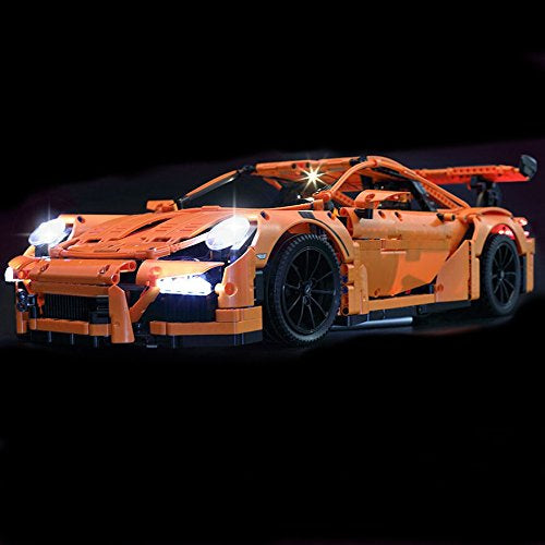 LED Light Kit for TECHNIC Porsche 911 GT3 RS Model Lego 42056 USB Power