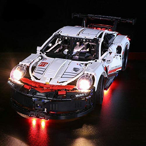 LED Light Kit for Porsche 911 RSR Model Lego 42096 USB Power