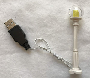 white Christmas Village Lamp Post LED street light for lego usb