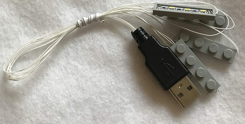 Gray 4 1x4 Light for Lego Creator House USB Connected
