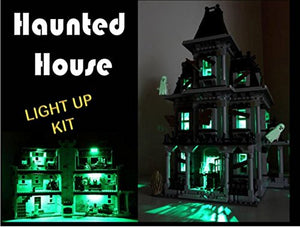 USB Powered LED Light Kit with Flashing lamp Post for Lego 10228 Haunted House