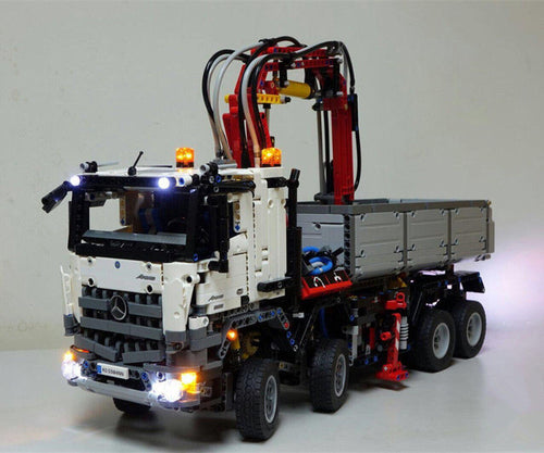 LED Light Kit For Technic Mercedes Benz Arocs Lego 42043 USB power