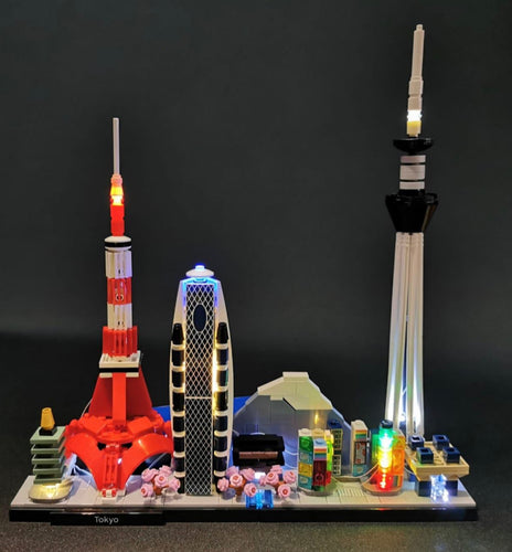 LED Lighting Kit for Lego Architecture Tokyo Skyline 21051