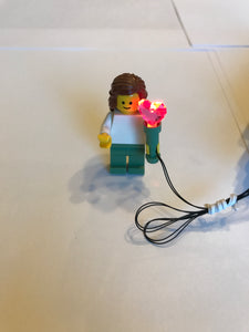 blinking fire torch & blinking pink heart shaped torch led for lego USB powered