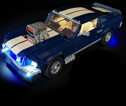 LED Light Kit for Ford Mustang Model Lego 10265 USB Power