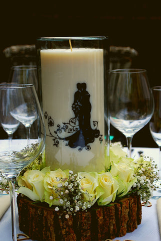 Clara and Co Candles wedding decoration centerpieces silhouette