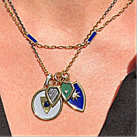 Layered Gold Shield Necklaces