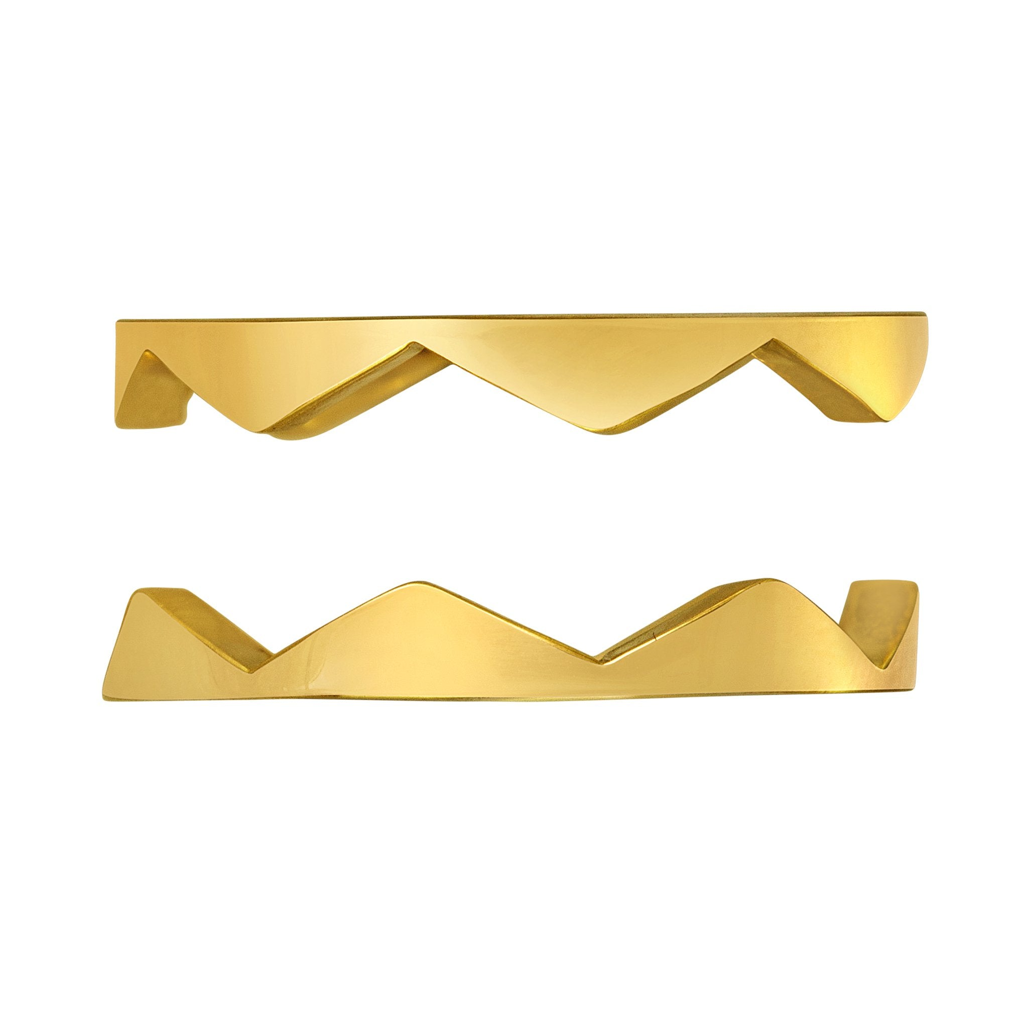 Zig Zag Band Ring: 18k Gold, Diamonds
