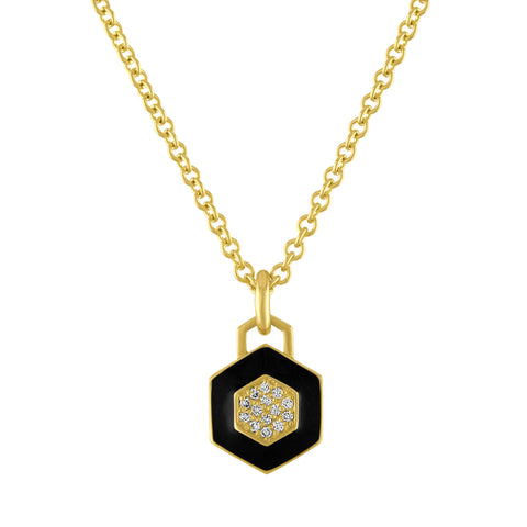 Deco Pop Enamel Pendant Necklace
