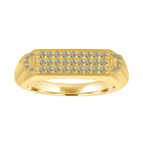 Edge Signet Ring: 18k Gold, Black Diamonds