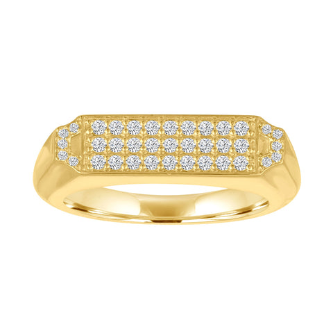 Edge Signet Ring: 18k Gold, Diamonds
