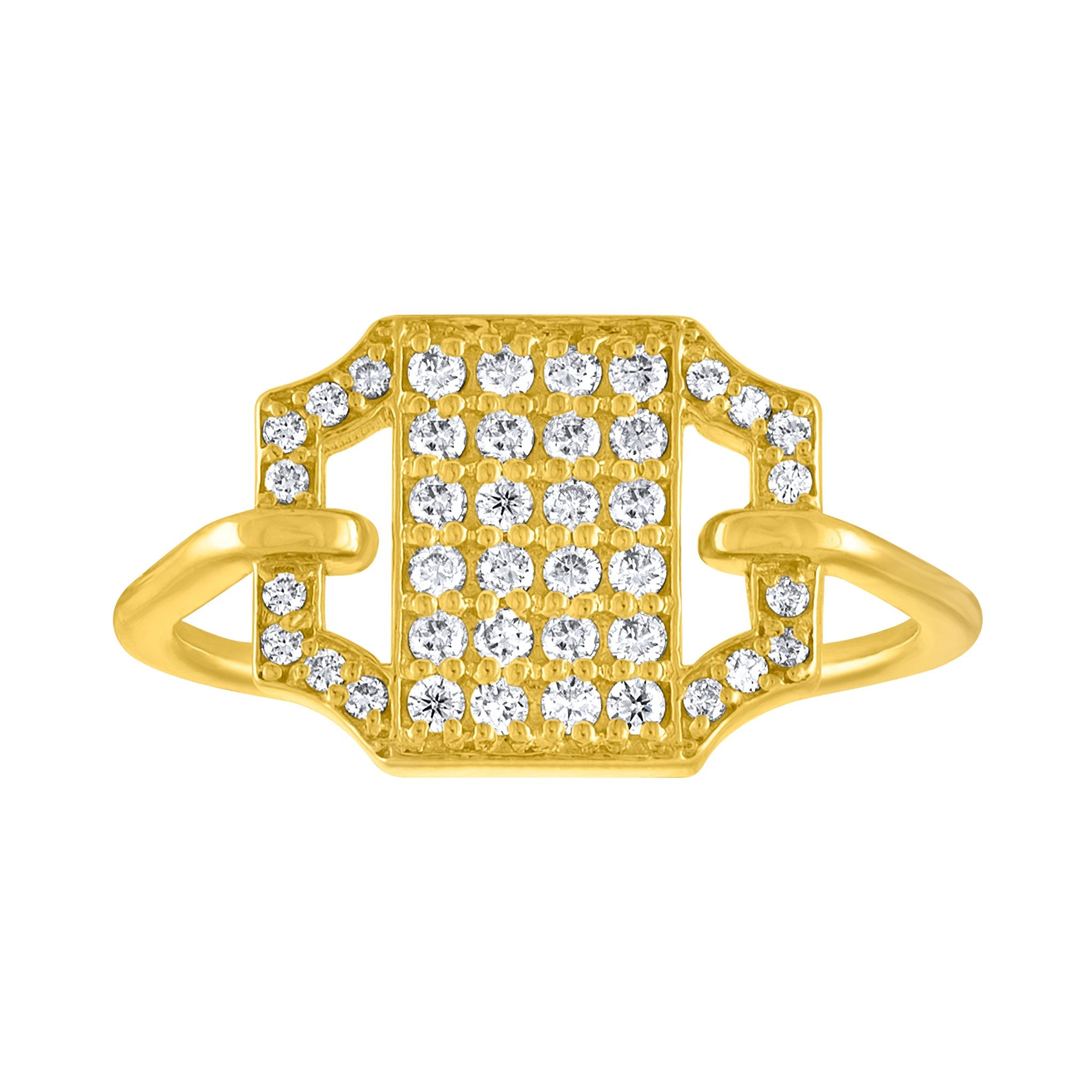 Edge Pave Ring: 18k Gold, Diamonds