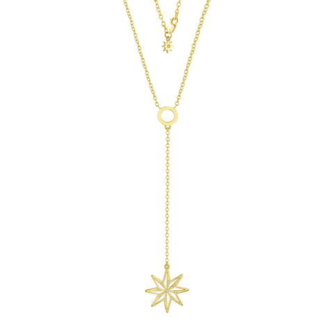 Stella Lariat Necklace: 18k Gold, Diamonds