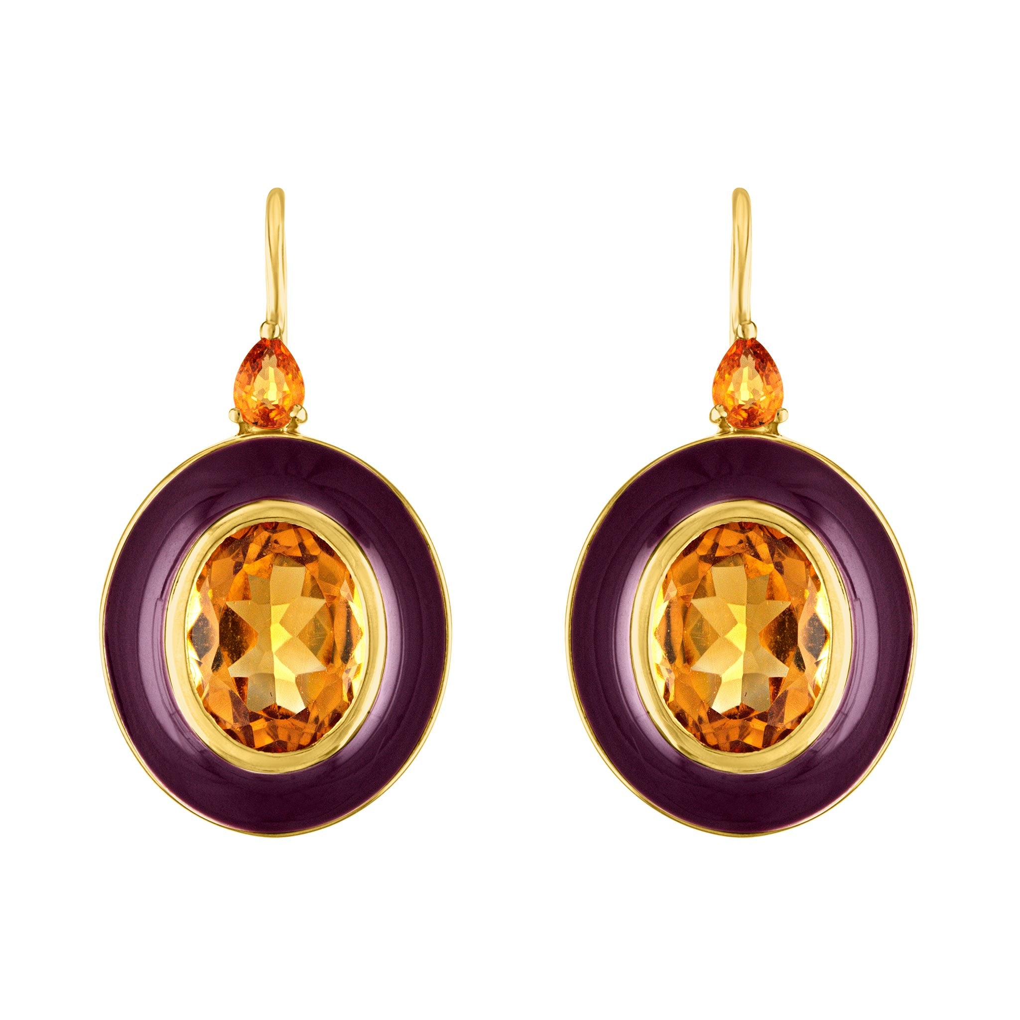 Amy Glaswand Fine Jewelry | Earrings | Royal Pop Enamel Earrings