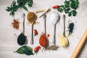 Ingredients, represented by spices. Photo by Calum Lewis on Unsplash