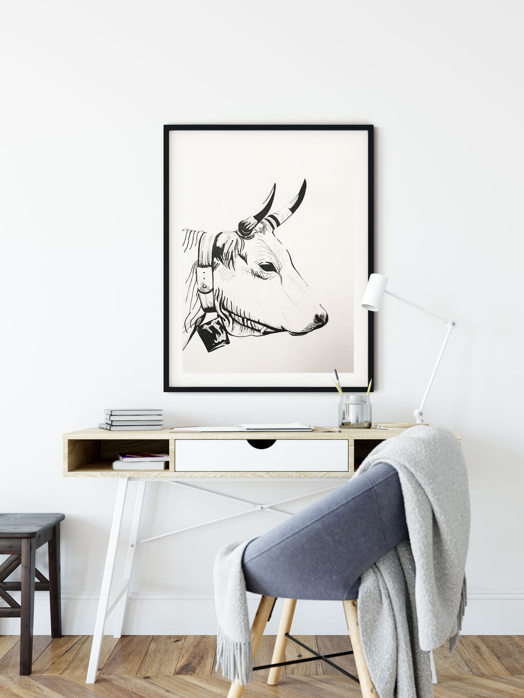 Bull Ink Painting