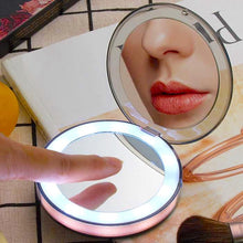 Load image into Gallery viewer, LED Mini Makeup Mirror