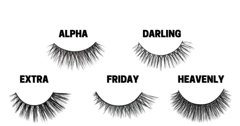 5 lash styles featured within the Day To Night Collection Magnetic Lashes by www.TheGlamSquad.co.uk