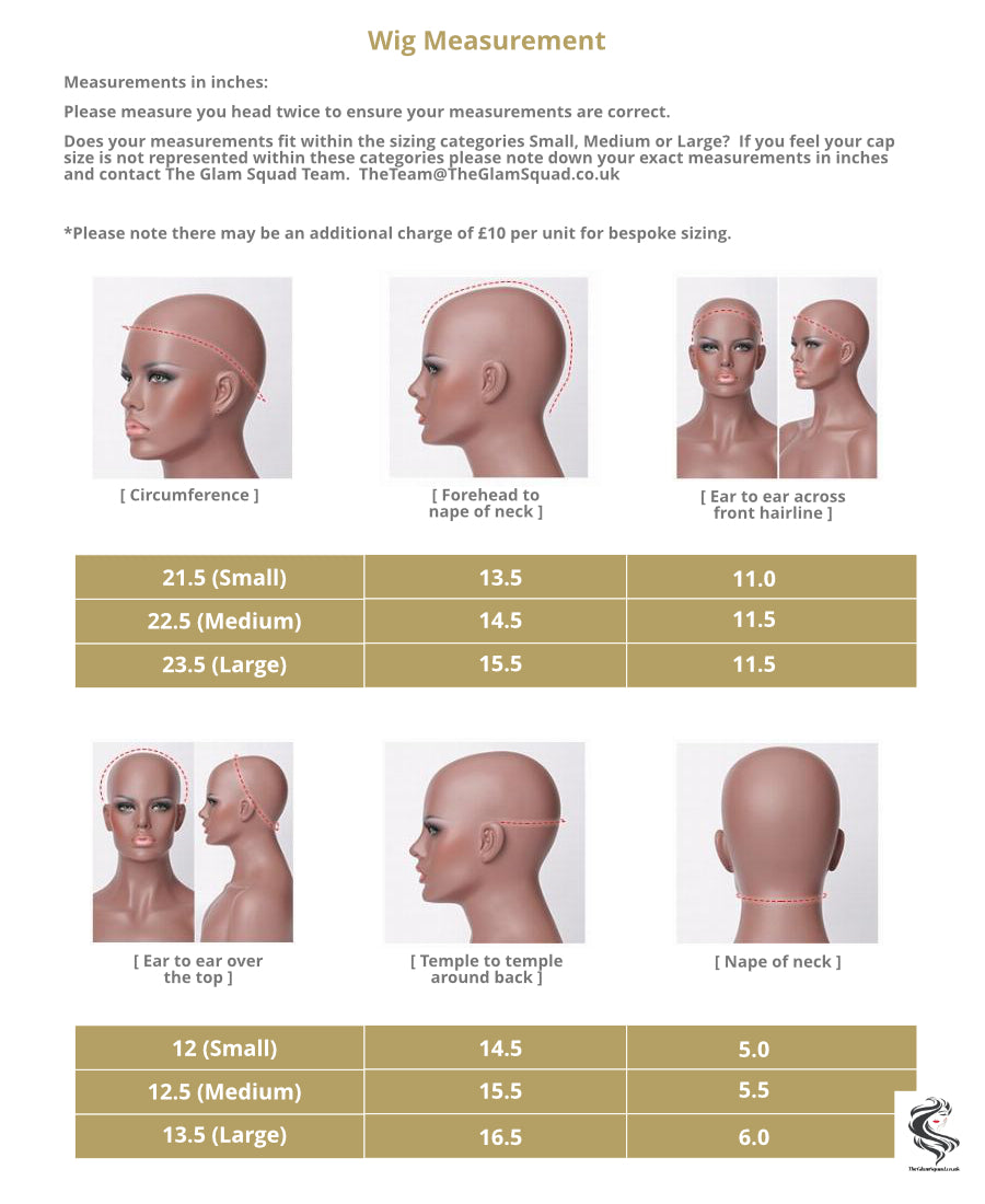 Wig measurements - The Glam Squad