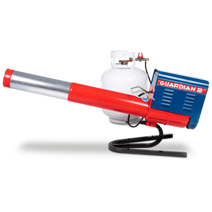 Guardian G2 Propane Cannon with its telescoping barrel fully extended