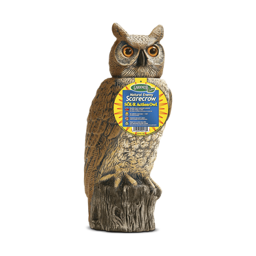 Solar Rotating Head Owl Decoy