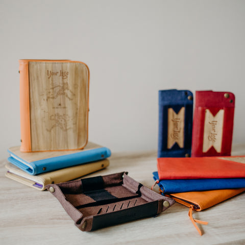 Eco-Friendly Corporate Gifts like Planners, Journals, Wallets, Valet Trays