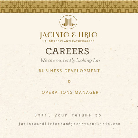 Jacinto & Lirio is looking for a business development and operations manager