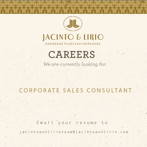 Jacinto & Lirio is looking for a corporate sales consultant