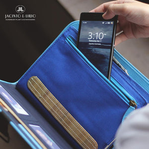 Laró A5 Luksong Tinik Personalized Traveler's Wallet Planner (Sky Blue) - Jacinto & Lirio