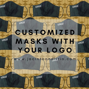 masks can be customized with your company logo