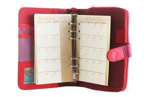 Likhain A6 Ring Binder Dateless Monthly and Weekly Vegan Planner Wallet Mobile (Adarna)