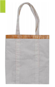 Vegan Leather Eco Bag Canvass with Water Hyacinth Accent - Jacinto & Lirio