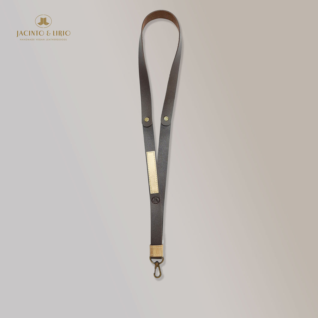 Obra ID Badge Faux Leather Lanyard with Vegan Leather Accents - Jacinto & Lirio
