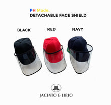 Load image into Gallery viewer, Philippine Made Detachable Face Shield Cap - Jacinto & Lirio